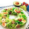 ブドウ×アボカドで作る!簡単リースサラダ