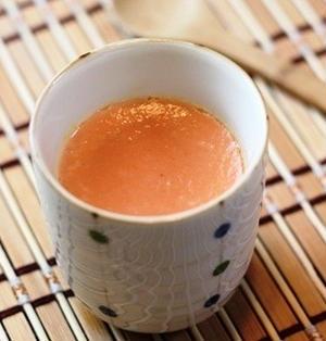 トマトとチーズのコンソメ茶碗蒸し