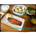 【献立171】サンマの味醂干し&ツナとブロッコリーのサラダ