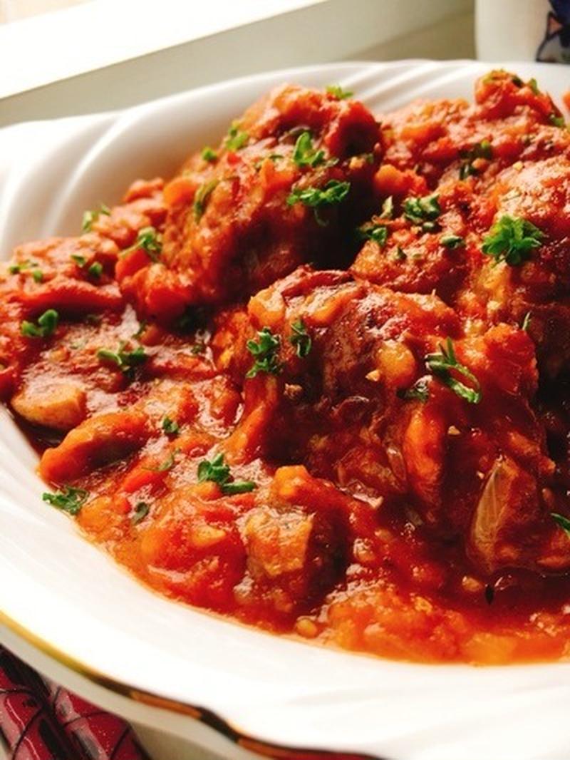 煮 チキン の トマト