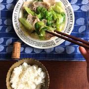 【簡単!!5分おかず】レタスと豚バラ肉のつやつや塩だれ炒めと、からだに優しいごはん