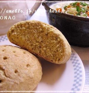 ホットケーキミックスで【発酵なし☆インド風スパイスでダイエットポテトパン☆混ぜるだけ】1個236kcal