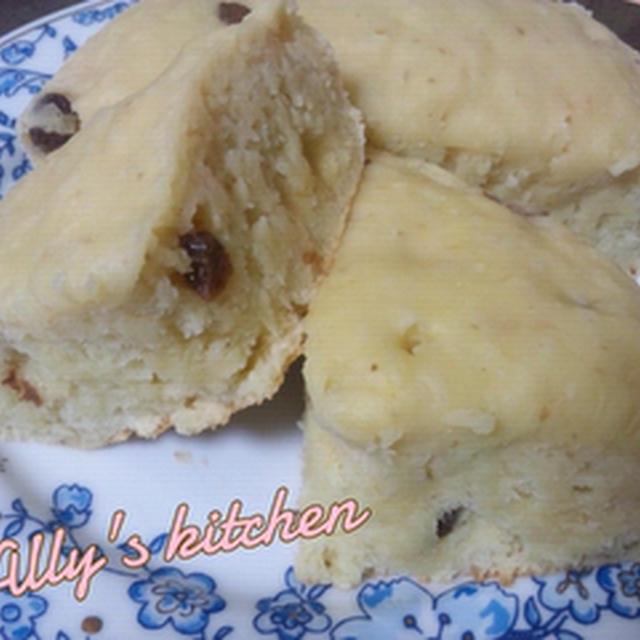 マクロビ:ホットケーキミックスと山芋の蒸しパン