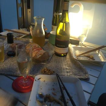 新鮮魚介と簡単イタリアンでバルコニーパーティー〜後半〜