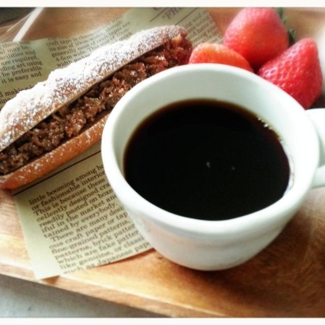コーヒーミルクフランスでモーニング♡(*^^*)♡