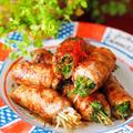 【レシピ・主菜】ヘルシーレシピ♪シャキシャキ水菜の肉巻き♡