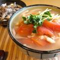 トマトと鶏挽肉のあんかけうどん by ひろりんさん