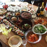 春の宴♪春をイメージした楽しくおいしいテーブル、おいしかったー!!カラオケも♪