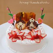ひな祭り*いちごのレアチーズケーキ