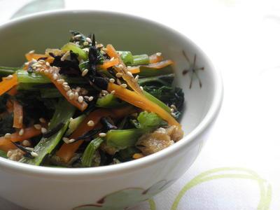 小松菜とひじきの炒め煮☆