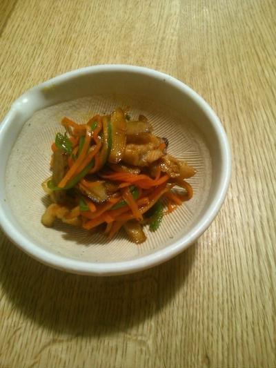 七味唐辛子の代わりにカレー粉 「きんぴらごぼう(カレー風味)」
