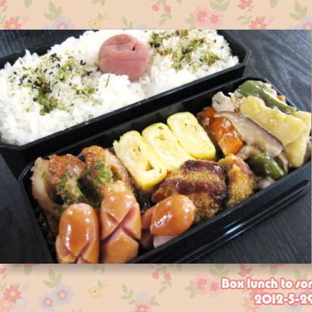 ★5月29日のお弁当 -野菜炒め他-