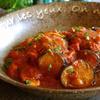 トマトソースのラタトゥイユ風煮込みハンバーグ