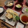野菜の天ぷらと塩ブリ大根の晩ご飯 と 曲げわっぱ弁当♪