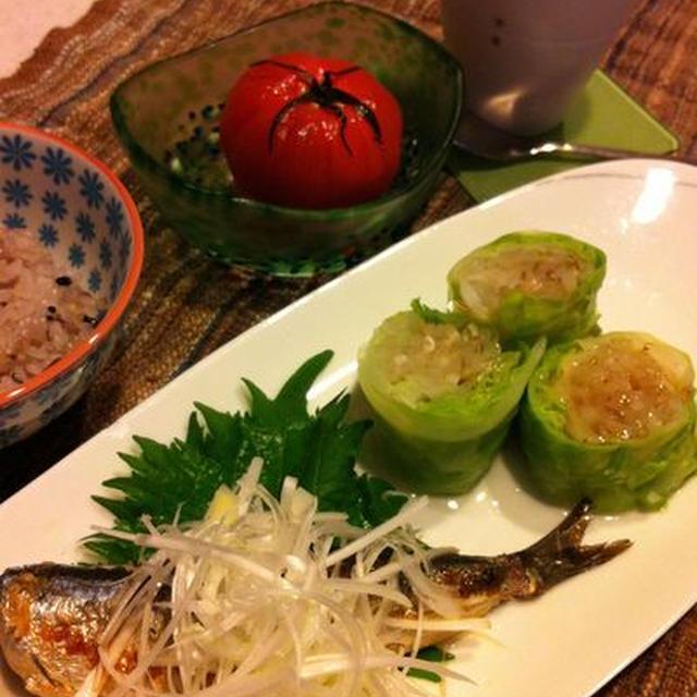 イワシの生姜タレ漬け/丸ごと冷製トマト