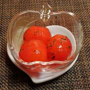 ミニトマトのバジル風味ピクルス