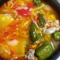 ピーマンの肉詰めのスープ煮 фаршированный перец