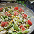 スパイス大使レシピ★鶏胸肉のジャンブルサラダ&濃厚ガラムマサラドレ