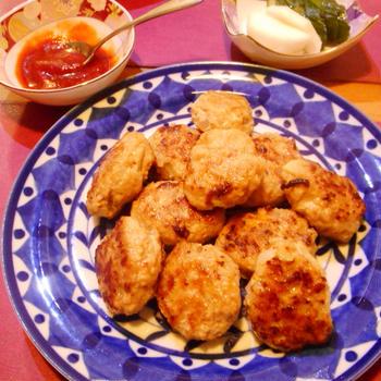 鶏ひき肉のケバブ風団子