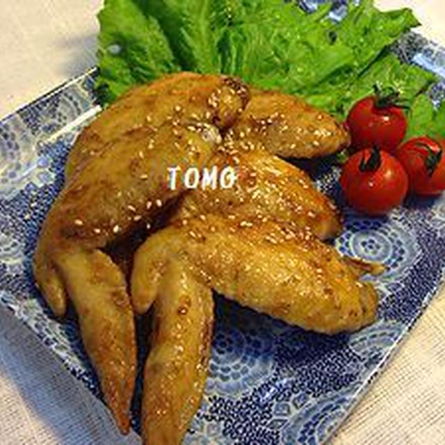 焼肉のタレで♪鶏手羽先の照り焼き