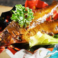 ■自家製保存食【鮎の甘露煮】骨迄美味しく!水飴でコッテリ 艶々です♪