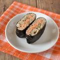 【おにぎらず】鮭ときのこのサンドおむすび by 柴田真希さん