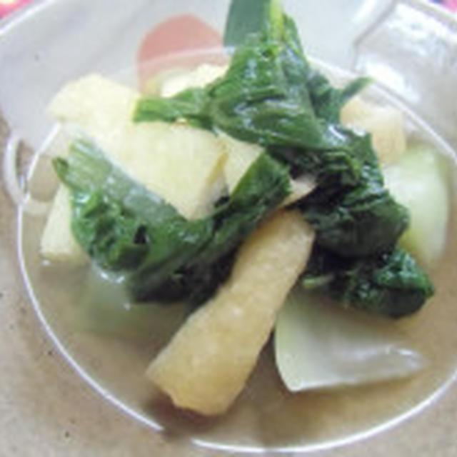 本格的な秋の到来  青梗菜の煮びたし
