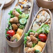 大好き♡竹の子ごはんと唐揚げのお弁当。