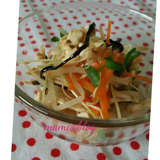 ☆ささみとお野菜のしゃきしゃきポン酢☆
