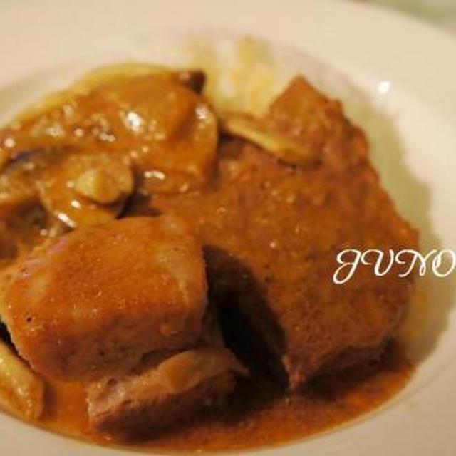 ☆ビーフ&豚バラ肉の焼きカレー☆