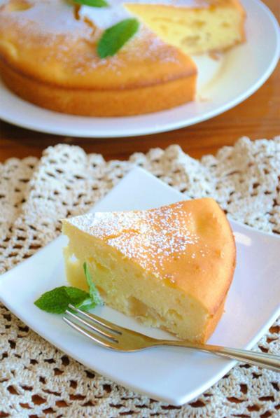 ホットケーキミックスで♪土佐文旦のチーズケーキ ☆