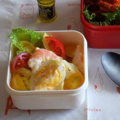 デリ風エビとゆで卵のごろっとサラダ(減塩)
