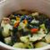 わかめと冷凍野菜ミックスのねり梅和え