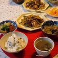 インドと中国と日本の味の晩ご飯と、【今日はシジミの日】血液型別貝の食べ方