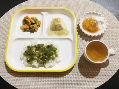 【離乳食完了期】とろろ昆布のあんかけ豆腐&鰹とピーマンのあんかけご飯