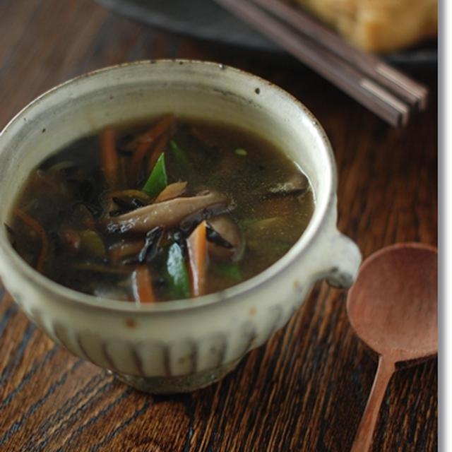 ひじきの五目スープ