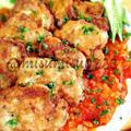 トマトソース添え・豚ヒレ肉のチーズピカタ