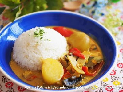 【主食】ペーストを使って♡具材ごろごろ♡シーフードとパプリカのココナッツイエローカレー
