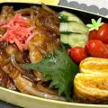 【お弁当】お弁当作り/bento/冷めても美味しい豚ロース生姜焼き《アラフィフ旦那弁当》