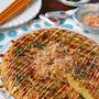 キャベツ1/4個分でふわふわ♪お好み焼き風納豆キャベツオムレツ!