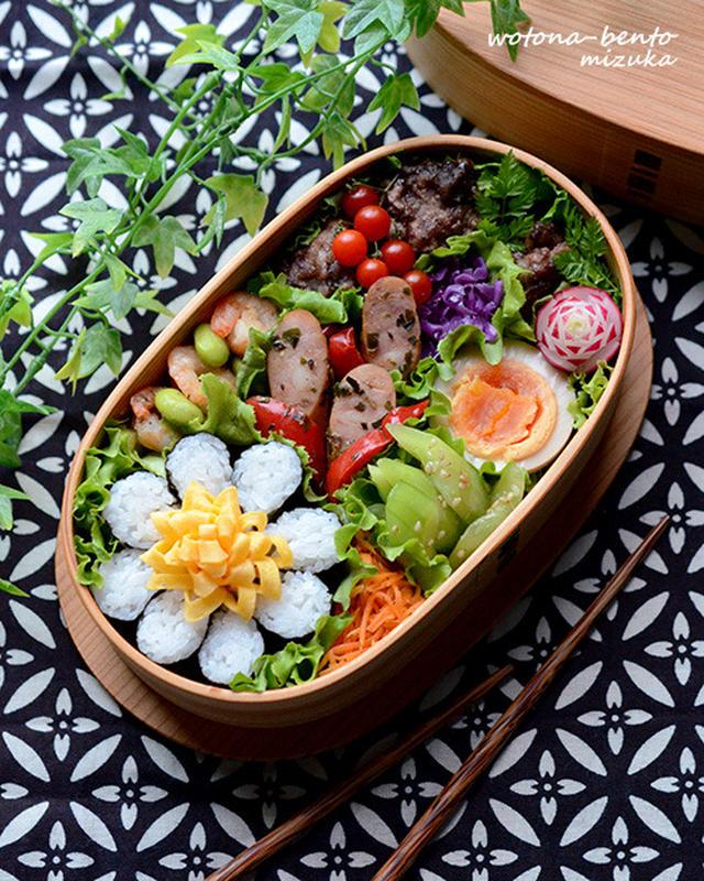 パッとお花が咲く♩「海苔巻かず」でお弁当を華やかに飾ろう