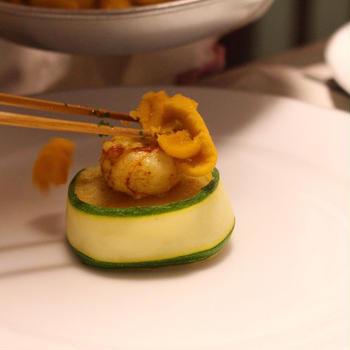 フランス料理前菜 魚介の前菜