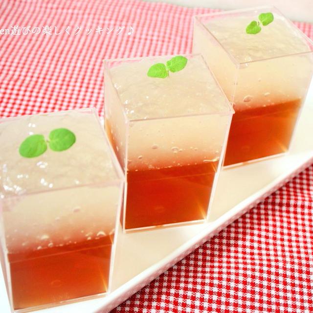 混ぜたらレモンティー♪2つの味を楽しむ紅茶ゼリー