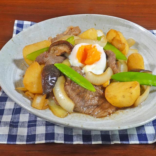 箸が止まらない~!!絶妙 牛肉と新じゃがのすき焼き風 甘辛炒め