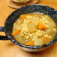 カレールー1個!もち麦野菜スープ【ダイエットめし】