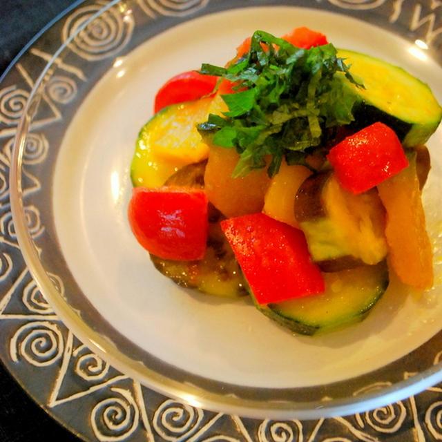 家族のリクエスト・・・夏野菜の和風ラタトゥイユ