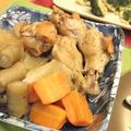 圧力鍋で♪砂糖なし!手羽元と根菜の生姜醤油煮
