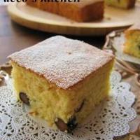 かる~い口当たり♪黒豆ジンジャークリームチーズケーキ。