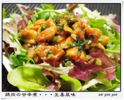 ✿鶏肉の甘辛煮・・・生姜風味✿