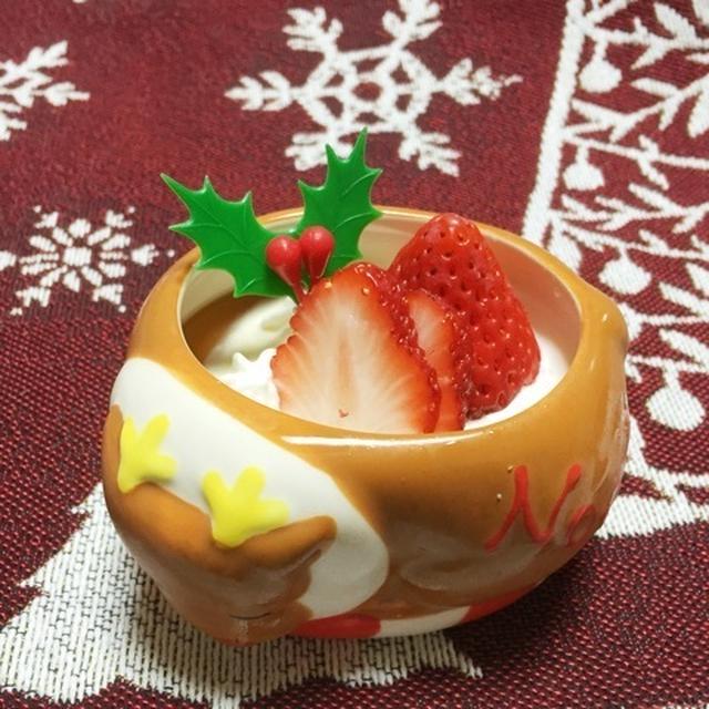 suipaの陶器〈おひる寝トナカイ〉で♡「クリスマスプリン」